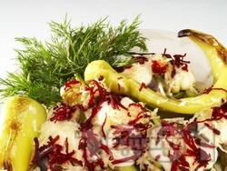 Гарнитура от печени зеленчуци на грил тиган - чушки Сиврия, тиквички, патладжан - снимка на рецептата